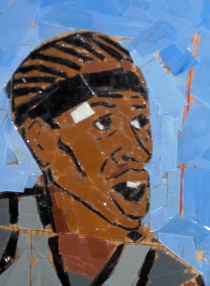 Allen Iverson Glass Mural Time Waits For No One